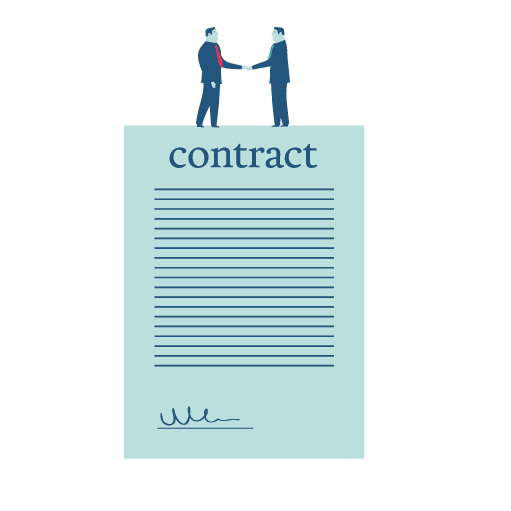 Men Signing contract